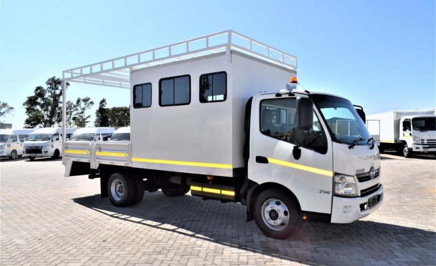 2017 Hino 300 Series 714 (12 seats crew cab + Drop side)